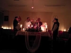 Regnum Christi lelki este @ Szent II. János Pál Iskolaközpont kápolnája