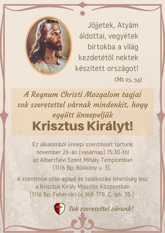 Regnum Christi Krisztus Király